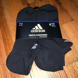 6 Pack Adidas No Show Socks Men's 6-12